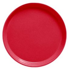 "Cambro 1100521 Cambro Red 11"" Camtray Round Serving Tray - 12 / CS"
