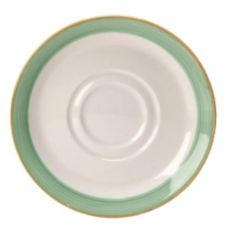 "Steelite  Simplicity Rio Green 4-5/8"" Double Well Saucer"