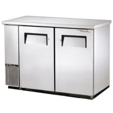 True® S/S Solid Door Food Rated Back Bar Cooler for 104 6-Packs