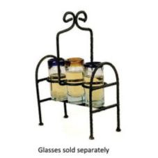 Aztecas Design TH13-C Tequila Sampler Rack With 3 Clear Shot Glasses
