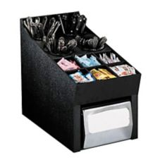 "Dispense-Rite 14.75""x10"" Black Countertop Organizer"