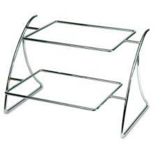 Delfin CTD-17132EM 18 x 14 x 13 Steel 2-Tier Display Stand - 2 / CS