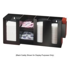Cal-Mil® 387-12 Clear Plastic Napkin, Lid, and Condiment Dispenser
