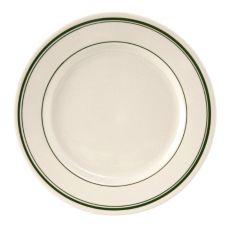 "Tuxton TGB-006 Green Bay 6-5/8"" Round Eggshell Plate - 36 / CS"