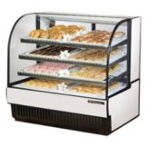 True® TCGD-50 Curved Glass 23.8 Cu Ft Dry Bakery Display Case