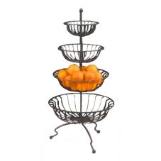 "Dover European Metalwork D-680BS Steel 39.5"" Tall 4-Tier Marche Stand"