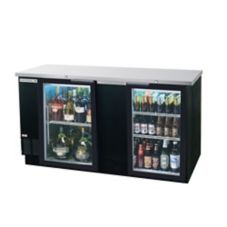 Beverage-Air® BB68G-1-B Refrigerated 2-Section Backbar Cabinet