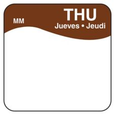 "DayMark 1100344 MoveMark Trilingual 1"" Thursday Day Square - 1000 / RL"