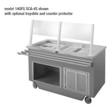 "Randell 14GFG SCA-4S 60"" 4 Pan Open Refrigerated Cold Food Table"
