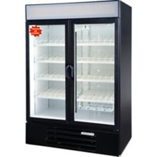 Beverage-Air LumaVue Two-Section Black Refrigerated Merchandiser