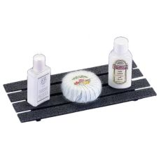 Cal-Mil® Granite Charcoal Hotel Amenity Multi-Slat Tray