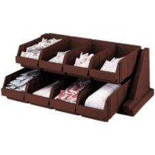 Cambro® 8RS8131 Versa Dark Brown 8-Bin Organizer Rack