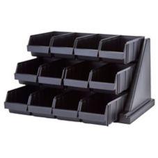 Cambro® 12RS12110 Versa Black 12-Bin Organizer Rack