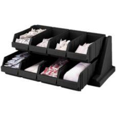 Cambro® 8RS8110 Versa Black 8-Bin Organizer Rack
