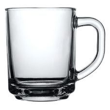 Cardinal 184518 Elemental 8-1/2 Oz. Glass Coffee Mug - 24 / CS