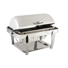 Bon Chef 10040CH Manhattan S/S 2 Gal Non-Dripless Rectangular Chafer