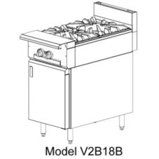 Vulcan Hart V2B18 V Series HD Gas Range with (2) 33,000 BTU Burners