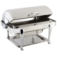 Bon Chef 19040CHH Elite Hammered Stainless 2 Gal Chafer w/ Roman Legs
