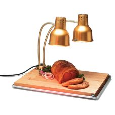 Carlisle HL8285GB21 FlexiGlow Dual Arm Heat Lamp / Carving Station