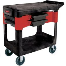 Rubbermaid® FG618000BLA Black Trades Cart