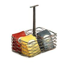FOH® TCS011PTI22 Patina Wireware Holder with Handle - 6 / CS