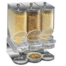 Cal-Mil Elite Portion Control 3-Bin Cereal Unit