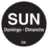 """DayMark 1100597 DuraMark Trilingual 3/4"""" Sunday Day Circle - 2000 / RL"""