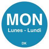"""DayMark 1100591 DuraMark Trilingual 3/4"""" Monday Day Circle - 2000 / RL"""