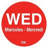"DayMark 1100593 Trilingual 3/4"" Wednesday Day Circle - 2000 / RL"
