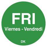 "DayMark 1100595 DuraMark Trilingual 3/4"" Friday Day Circle - 2000 / RL"