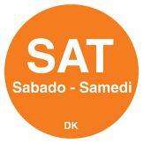 "DayMark 1100596 Trilingual 3/4"" Saturday Day Circle - 2000 / RL"