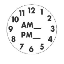 "DayDots 10239-00-11 SupeRemovable 1"" Round Clock Label - 1000 / RL"