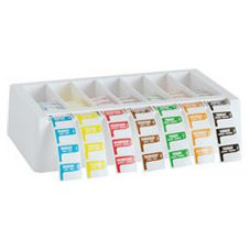 DuraDot Trilingual 1 x 3/4 Label Kit w/Dispenser, Mon-Sun