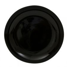 "Ten Strawberry Street Black Coupe 12"" Charger Plate"