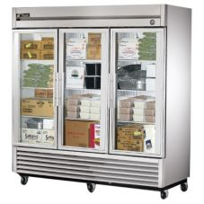 True T-72FG 3-Glass Swing Door 72 Cu Ft Reach-In -10°F Freezer