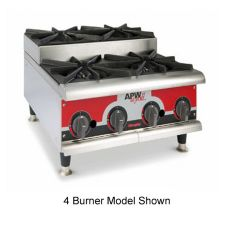 APW Wyott HHPS-636 Cookline Gas Step-Up (6) 30000 BTU Burner Hot Plate