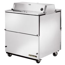 True TMC-34-S-DS-SS All S/S Dual-Sided Mobile 13.8 Cu Ft Milk Cooler