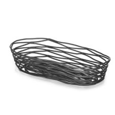 "Tablecraft Artisan Collection™ Black Metal 9"" Oblong Basket"