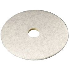 "3M™ 18213 Natural Blend White 24"" Floor Polishing Pad - 5 / CS"