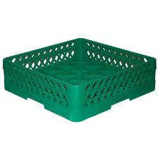 Traex® TR16A-19 Green 25 Compartment Glass Rack with 1 Extender