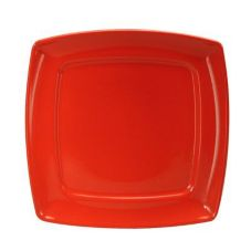 Oneida Stealth Aztec Red Square Plate