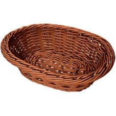 "G.E.T.® WB-1503-H Honey 9 x 7"" Oval Designer PolyWeave Basket"