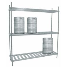 "Advance Tabco KR-72 Aluminum 72"" x 20"" x 76"" Keg Rack"