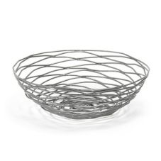"Front Of The House BBK013GYI22 8"" Wireware Pewter Basket - 6 / CS"