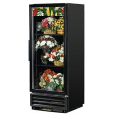 True GDM-12FC Black Glass Swing Door 12 Cu Ft Floral Case Refrigerator