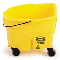 Rubbermaid WaveBrake® Yellow 26 Qt Mop Bucket w/ Casters