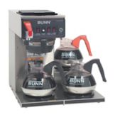 BUNN® 12950.0252 CWTF35-3 Automatic Coffee Brewer with 3L Warmers
