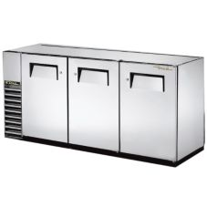 True® S/S 2-Solid Swing Door Back Bar Cooler for 150 6-Packs