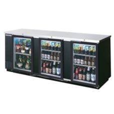 Beverage-Air BB94G-1-B Refrigerated Backbar Cabinet with 2 Glass Doors