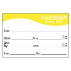 DayMark 1124672 ReMark™ 2 x 3 Tuesday Day Label - 500 / RL